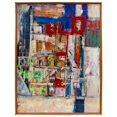 Walter Greub Abstract on Wood