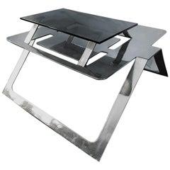 Pedro Ramírez Vázquez, Chromed Steel Dining Table