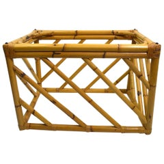 Modernist Bamboo End Table by Ficks Reed