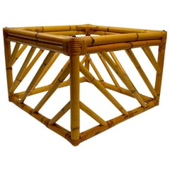 Small Square Bamboo Table by Ficks Reed