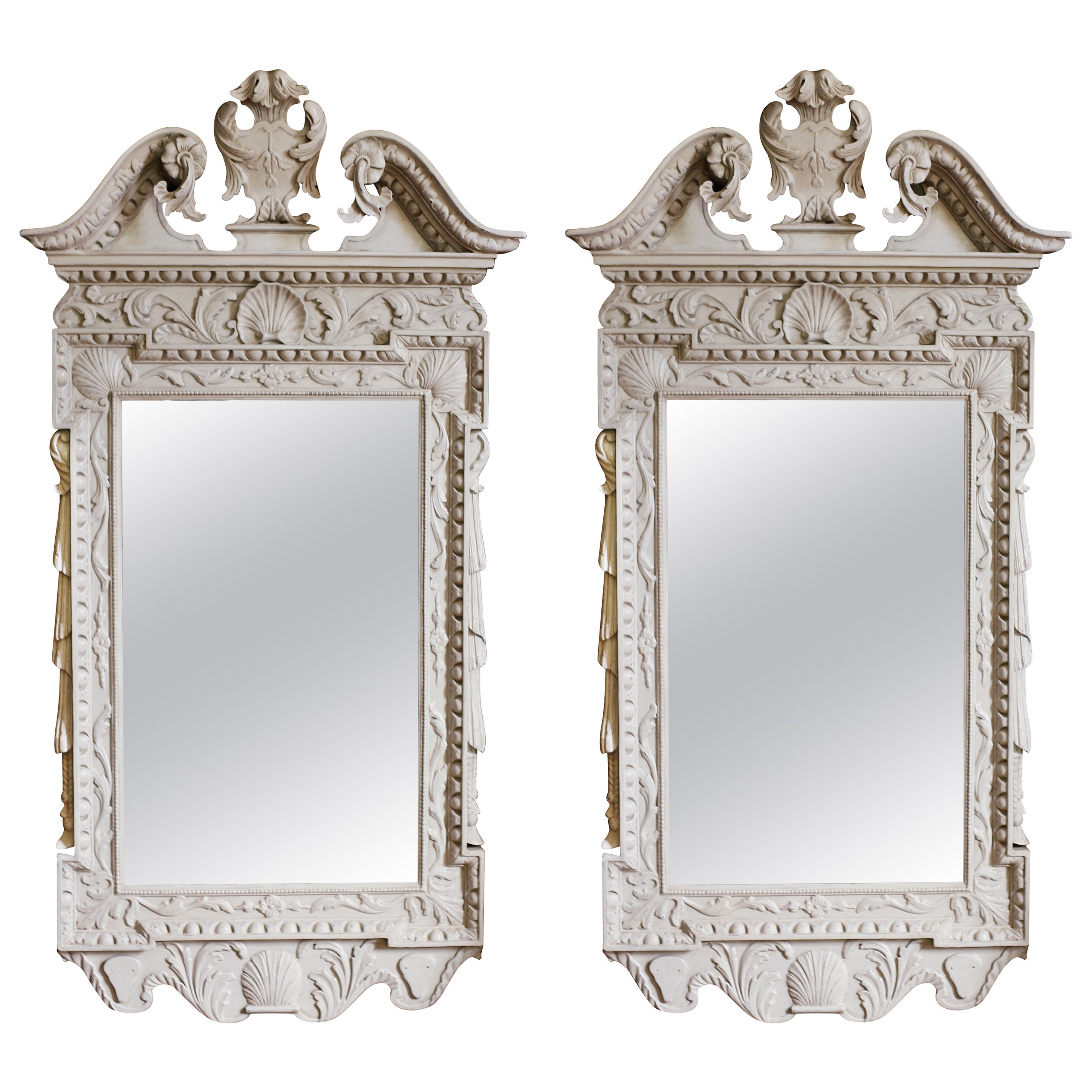 Pair of George II Tablet Mirrors in the Manner of Kent