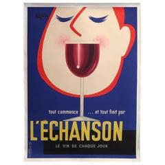 Original Vintage Poster, L'echanson by Seguin, 1955