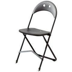 Bonaldo Birba Chair in Black Painted Steel