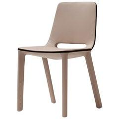 Bonaldo Kamar Chair in Beige Leather by Mauro Lipparini