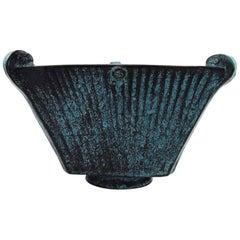 Svend Hammershøi for Kähler, Denmark, Glazed Stoneware Art Pottery Vase, 1930s