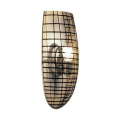 Vistosi Yuba Wall Sconce in Crystal and Black by Paolo Crepax