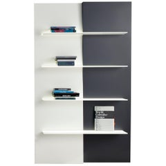 Bonaldo Up and Down Bookcase in Black and White by Andrea Lucatello