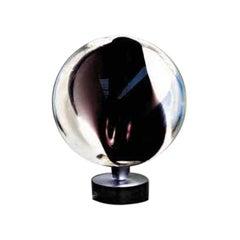 Vistosi Poc Table Lamp in Crystal and Black by Barbara Maggiolo