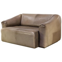 "De Sede ""DS47"" Leather Two-Seat Sofa"