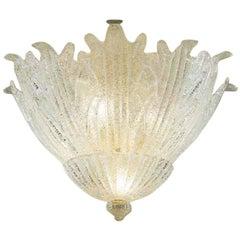 Vistosi Romanza Flush Light in Crystal and Graniglia by Studio Tecnico Veteria