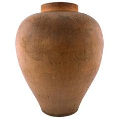 Colossal P. Ipsen, Denmark Rare Museum Quality Vase of Terracotta