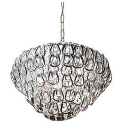 Vistosi Minigiogali Pendant Light in Crystal & Transparent by Angelo Mangiarotti