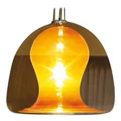Vistosi Naranza Pendant Light in Topaz by Vetreria Historic Archive