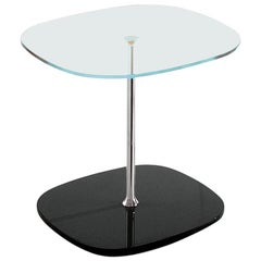Bonaldo Miami Coffee Table in Glass with Black Base