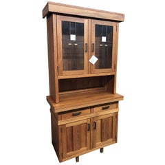 Hoosier Craft Bungalow Collection Mission Hutch, 2 Pc