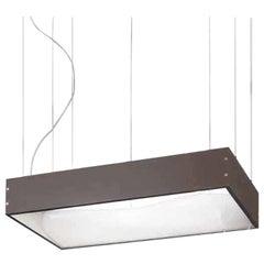 Small Vistosi Tablo Pendant Light in Brown Laminate by Mauro Olivieri