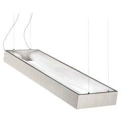 Vistosi Large Tablo Pendant Light in White Laminate with Decor by Mauro Olivieri