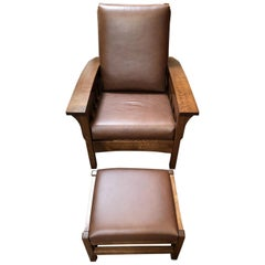 AJ's Furniture Morris Chair and Ottoman