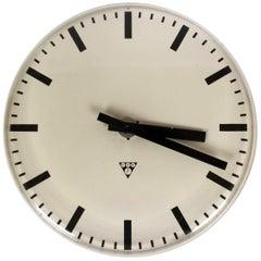 Railway or Factory Clock from Pragotron, 1970s