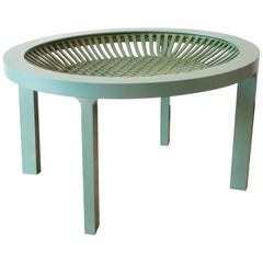 Ceramic and Maple Contemporary Green Tea Table