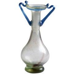 Ancient Roman Glass Bottle, 350 AD