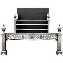 Georgian Style Steel Firegrate with Pierced Fret