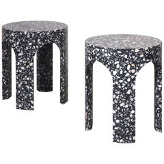 Pair of Side Tables, Loggia Terrazzo