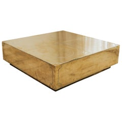 20th Century Brass/Copper Coffee Table