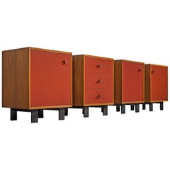 George Nelson Set of Four Cabinets