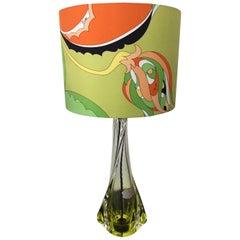 Val Saint-Lambert Table Lamp with Pucci Lamp Shade