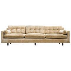 Harvey Probber Velvet Sofa, 1950s