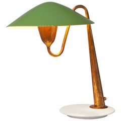 Italian Patinated Brass Desk Light, circa 1950