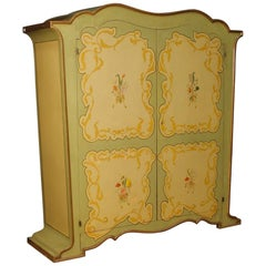 Italian Wardrobe in Painted Wood in Art Nouveau Style from 20th Century