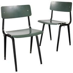 Rare Friso Kramer Folding Revolt Chairs for Ahrend de Cirkel, Netherlands, 1953