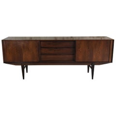 1960s E.W. Bach for Sejling Skabe Danish Midcentury Rosewood Sideboard