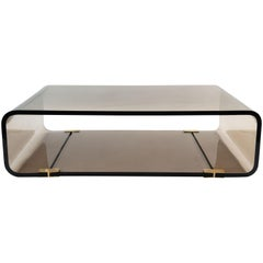 Les Prismatiques Smoked Lucite Coffee Table
