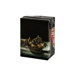 Untitled #10 from 'Biotá' Series, Still Life Painting on Cardboard Box