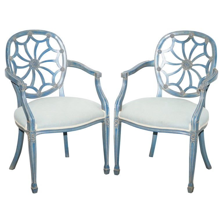 Furniture Web: Pair Of Stunning George Hepplewhite Spider Web Back