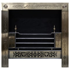 Engraved Irish Georgian Style Register Grate