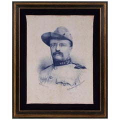 Theodore Roosevelt Banner with an Exquisite Portrait Image in Rough Rider's Garb