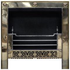 Brass Steel Irish Register Grate in the 18th Century Style