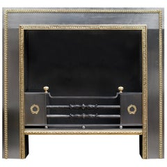 Regency Style Steel and Brass Register Grate