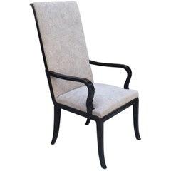 Alvar Andersson Swedish Pewter-Inlaid Ebonized Armchair