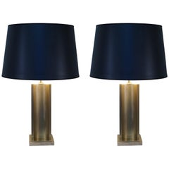 Pair of 1960s French Bronze Table Lamps