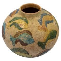 Dolores Porras Mexican Vessel Antique Terracota Clay Handmade in Oaxaca, 1998