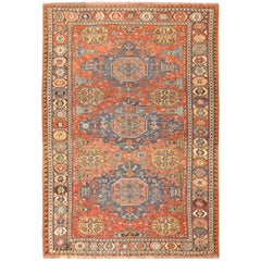 Tribal Antique Flat-Woven Caucasian Soumak Rug