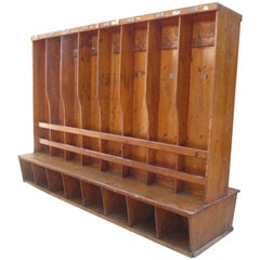 Mid-Century Modern Gym Dressing Room Italian Freestanding Coat and Shoe Rack