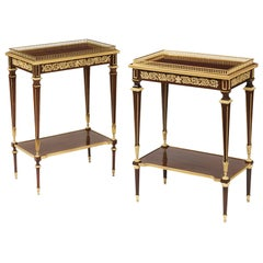 19th Century Pair of Side Tables in the Louis Xvith Manner by Paul Sormani