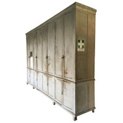 Italian 20th Century Very Large Industrial Cabinet or Wardrobe in Painted Wood