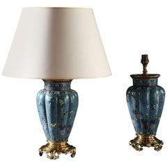 Pair of Cloisonné Vases as Lamps